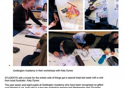 Press Release - Goldington Academy Harpur Trust Workshop (page 1) - Katy Dynes