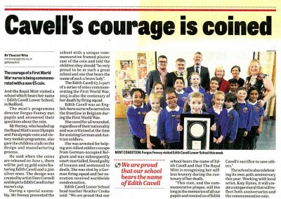 Press Release - for Edith Cavell School mural - Katy Dynes
