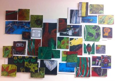 3D Abstract Still Life Workshop - with the Year 7 & 8 students - run by Katy Dynes