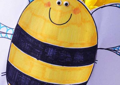 Buzzy Bee Spring workshop for The Kiosk in Bedford by Katy Dynes