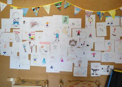 Celebration Of Children's Artwork at the Bedford Book Festival - workshop by Katy Dynes