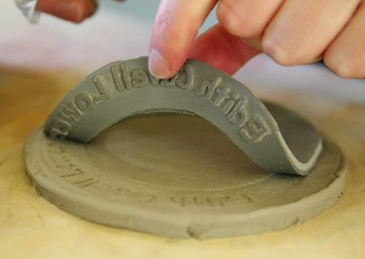 Clay Coins Workshop at Edith Cavell School by Katy Dynes
