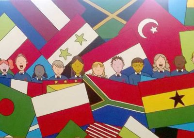 The International Board (detail) at Westfield School by Katy Dynes