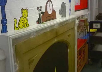 Fireplace Wall at Castle Lower, Year 1 by Katy Dynes
