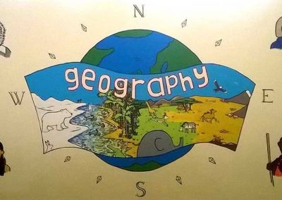 Geography Subject Board for Westfield School by Katy Dynes