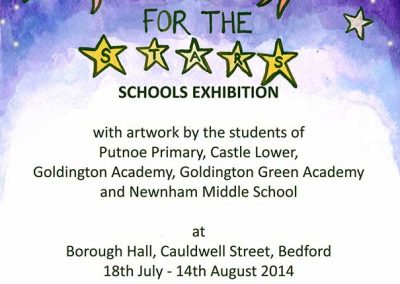 Reach for the Stars Exhibition - originated by Bedford Borough Council and organised by Katy Dynes