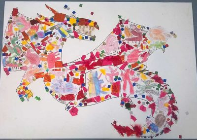 The Red Fiery Dragon - a whole school workshop by the children of Pinchmill Lower School and Katy Dynes