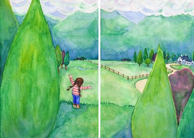 Illustration from 'There Used To Be Giants' by Alison Molyneux - illustrated by Katy Dynes
