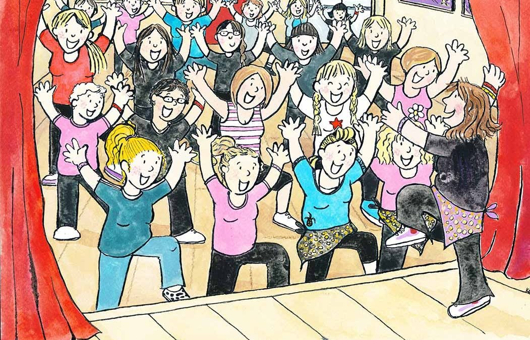 Zumba (commission) illustrated by Katy Dynes