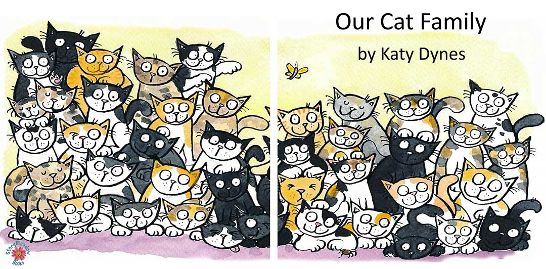 'Our Cat Family' - Words and Pictures by Katy Dynes