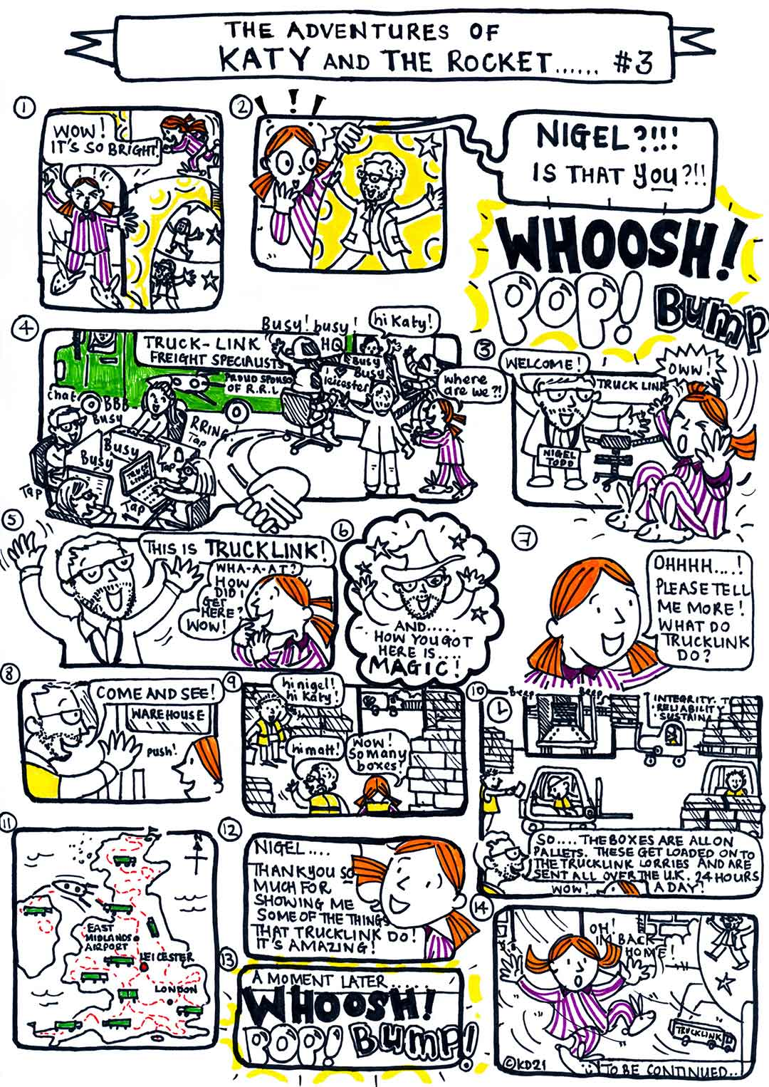 The Adventures of Katy and the Rocket - No.3 - Trucklink - by Katy Dynes 2021